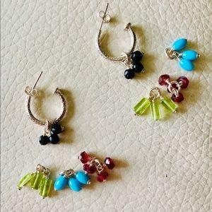 SILPADA small hoop earrings/interchangeable stones